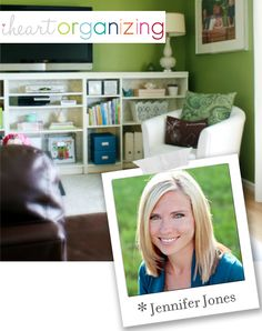I Heart Organizing blog - look at home tour for some ideas for my house