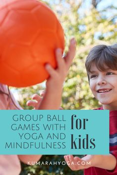 Kids love balls and using a ball to play games is definitely possible in a kids yoga and mindfulness class. You can play these group ball games with kids of many ages, and they've been especially helpful in my pre-teen and teenage classes when I'm working on engagement and behavior management. Have fun with these kids yoga group games! Movement Activities, Team Building Activities, Music Activities, Activities For Kids, Music Lesson Plans, Music Lessons, Physical Education Games, Health Education, Yoga Games