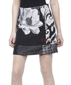 Take a look at this Black Floral Geminis Miniskirt by Desigual on #zulily today!