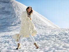 The UGG Australia Chrissy Teigen Winter Campaign Features Snow Caps #fashion trendhunter.com