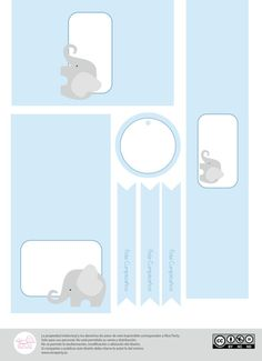 Pack imprimible de fiesta infantil Elefante por NiceParty en Etsy