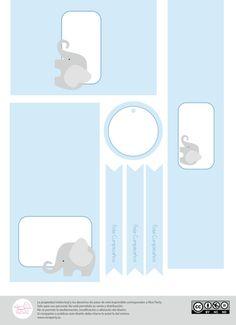 Pack imprimible de fiesta infantil Elefante por NiceParty en Etsy