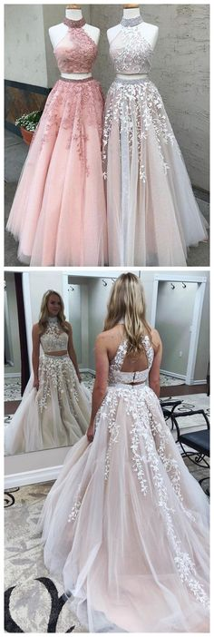 #2piecespromdress #2piece #2pieces #twopieces #promdress #promdresses #hiprom #prom #GraduationDress #2018 #PartyDress #champagneprom #lace #whitelace