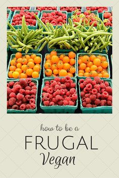 Opting for a plant-based diet can do wonders for your bank account. | How to be a frugal vegan
