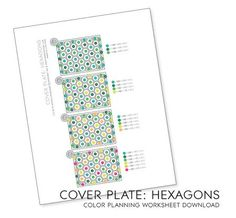 PDF download - PaperTrey Ink Happy Hexagon cover plate color planner.