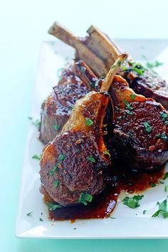 BALSAMIC BROWN SUGAR LAMB CHOPS Balsamic Brown Sugar Lamb Chops - Savory goodness with sweetness to boot, these lamb chops will be your favorite new dish for entertaining. It's one the best lamb chop recipes you'll taste Best Lamb Chop Recipe, Lamb Chop Recipes, Meat Recipes, Cooking Recipes, Recipe For Lamb Chops, Best Lamb Recipes, Recipies, Baked Lamb Chops, Grilled Lamb Chops