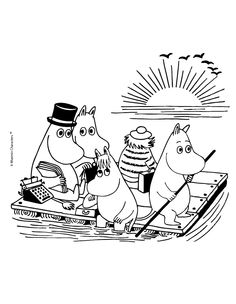 Moomin Cartoon, Cartoon Coloring Pages, Free Coloring Pages, Printable Coloring, Tove Jansson, To Color, Illustrations And Posters, Colorful Pictures, Adult Coloring, Crayon Art, Free Colouring Pages, Color Pictures, Illustrations Posters