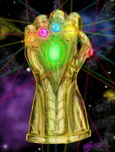 The Great Infinity Gauntlet suspended in space. Along with its six soul gems! Who shall find the power that is the gauntlet and how will he use it? The Infinity Gauntlet Thanos Marvel, Marvel Villains, Marvel Movies, Infinity Gems, Marvel Infinity, Infinity War, Avengers, Stone Tattoo, Geek Culture