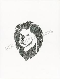 Lion by Erica Reyna. $20.00