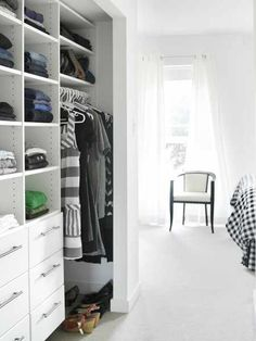 Sleek Open Clothing Closet