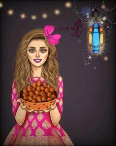 Girly Pictures, Pictures To Draw, Beautiful Pictures, Ramadan Mubarak Wallpapers, Ramadan Cards, Theme Mickey, Girly Dp, Sarra Art, Cute Girl Wallpaper