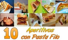 Imagen 0 Pasta Filo, Finger Foods, Tacos, Mexican, Cooking, Ethnic Recipes, Buffets, Empanadas, Mini