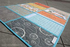 Quilt As You Go TUTORIAL... easy to follow tutorial showing how to join the blocks ~ made by ChrissieD