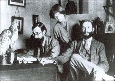 Lytton Strachey with Dora Carrington and James Strachey