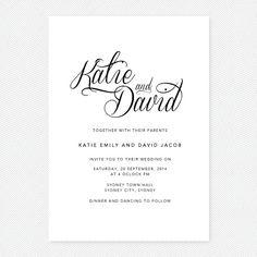 Classic elegance printable wedding invitation - vintage floral wedding invite, rsvp / reply card set
