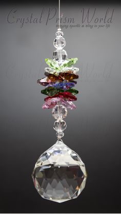Crystal Ornaments and Hanging Suncatchers Chandelier Crystals, Hanging Crystals, Beaded Ornaments, Glass Ornaments, Christmas Crafts, Christmas Ornaments, Crystal Shop, Rocks And Gems, Dreamcatchers