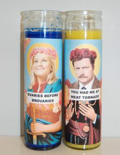 "Saints Leslie and Ron Candles | 33 ""Parks And Recreation"" Items You Should Treat Yo' Self To"