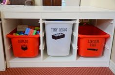 Create custom toy bin labels with your Silhouette & Vinyl
