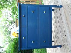 Cute little dresser I did in Miss Mustardseed's flow blue milk paint