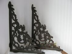 METAL WALL BRACKETS /  Large Architectural by MyVintageChicCharm