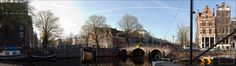 prinsengracht brouwersgracht lekkeresluis panorama