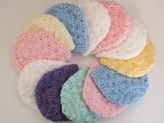 Newborn Hat Preemie Hat Crochet-Blue,White,Pink,Yellow,Lavender,Ivory,Green,You Choose, Direct Checkout