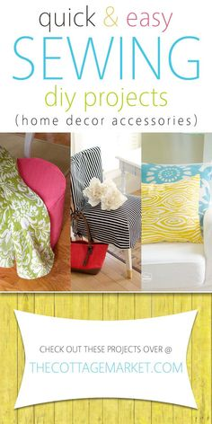 Quick And Easy Sewing DIY Projects (Home Decor Accessories)   The Cottage  Market Diy