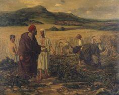 Adriaan Herman Gouwe, 1901, Prix de Rome winnaar met het schilderij Boas en Ruth