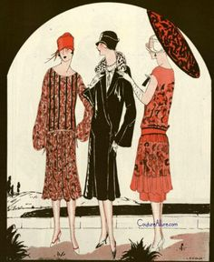 Fashion illustration, 1926.