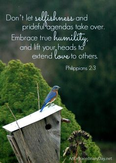 FREE Scripture Quote &  Printable - Philippians 2:3 | The Case of the Ruffled Feathers :: Bluebirds