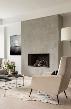 Großen Modernen Kamin In Der Mitte Des Raumes | Kamin | Pinterest Kamin Im Wohnzimmer Bis Zur Mitte