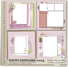 Want all of Dawn Inskip's Photo Emphasis Templates!