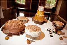 Fall-themed cake spread on a table - Yum! - Photo by Kori