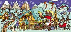 Maria Neradova: Christmas scene for PICO Children's Magazine Magazines For Kids, Theme Noel, Christmas Illustration, Teaching Spanish, City Art, Christmas Activities, First Christmas, Art Museum, Images