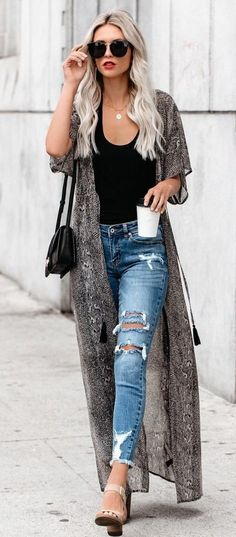 Popular Summer Outfits That Always Looks Fantastic blaue Jeans Outfit Ideas For Teen Girls, Outfits For Teens, Casual Outfits, Office Outfits, Office Wear, Look Fashion, Autumn Fashion, Fashion Outfits, Spring Outfits