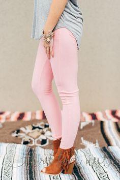 Nantucket Capri Jegging in Pink by Three Bird Nest | Bohemian Clothing