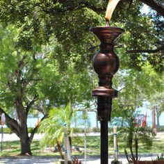 Legends Lifestyle // Burnished Candlestick Tiki Torch - $49.99