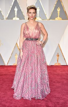 Oscars 2017: All the Fashion Looks From the Red Carpet | Allure Scarlett Johansson looked pretty in pink in this flowy gown.