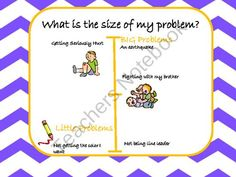 This is a great way to teach students about the size of their problem. School Social Work, Social Thinking, It Hurts, Students, Teaching, Kids, Young Children, Boys, Children
