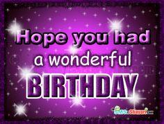 sorry i am late birthday | Facebook Wall Belated Birthday Wishes Greeting Ecards Smsnshayari ...