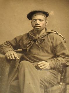 Civil War tintype of African American sailor.
