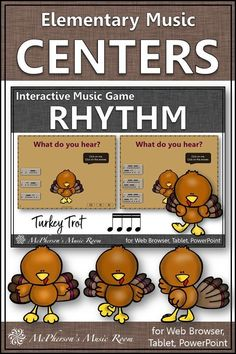 Elementary Music Rhythm Game! Your elementary music students will LOVE this interactive game while aurally identifying sixteenth notes! Engaging lesson and activity for your Orff and Kodaly lessons in November, around Thanksgiving or anytime!