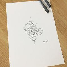 285 отметок «Нравится», 7 комментариев — 타투이스트_원석 (@tattooist_wonseok) в Instagram: «∥Camellia Flower∥동백꽃∥카멜리아∥ . . 내일 오전 작업💖  #illust #tattoo #design #wonseok #camellia…»