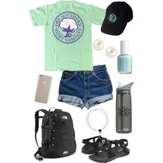 Preppy Summer Roadtrip by taylorbenson on Polyvore featuring polyvore, fashion, style, Chaco, The North Face, Henri Bendel, Case-Mate, Lilly Pulitzer and CamelBak