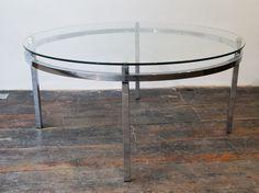 Chrome and Glass Coffee Table Retro Furniture, Antique Furniture, Mid Century Furniture, 1970s, Chrome, Tables, Coffee, Antiques, Glass