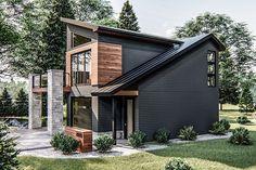 Modern Tiny House, Contemporary House Plans, Tiny House Design, Modern House Design, Small Modern Home, Tiny House Exterior, Modern Exterior, Exterior Design, Modern Home Exteriors