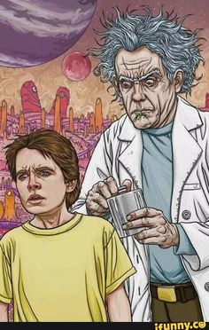 rickandmorty, backtothefuture, lol, funny, what