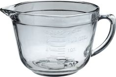 Anchor Hocking 2 Quart Ovenproof Glass Batter Bowl , Clear , 2 L - Liquid Measuring Cup, Measuring Cups, Anchor Glass, Homemade Tomato Sauce, Sprouts With Bacon, Plastic Bowls, Mixing Bowls, Kitchen Supplies, Anchor Hocking