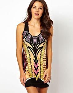 River Island Botswana Print Swimwear Dress #summer #beachwear