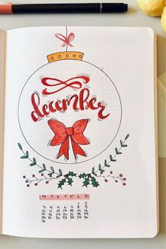 32 Beautiful monthly bullet journal covers for December. December bullet journal covers. Bullet journal cover ideas for December. December bujo themes. Bullet journal layout for December.